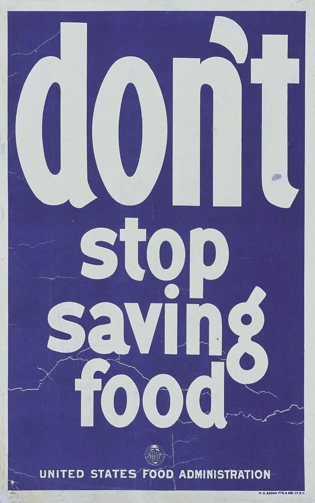食料の節約を止めないでのポスター画像